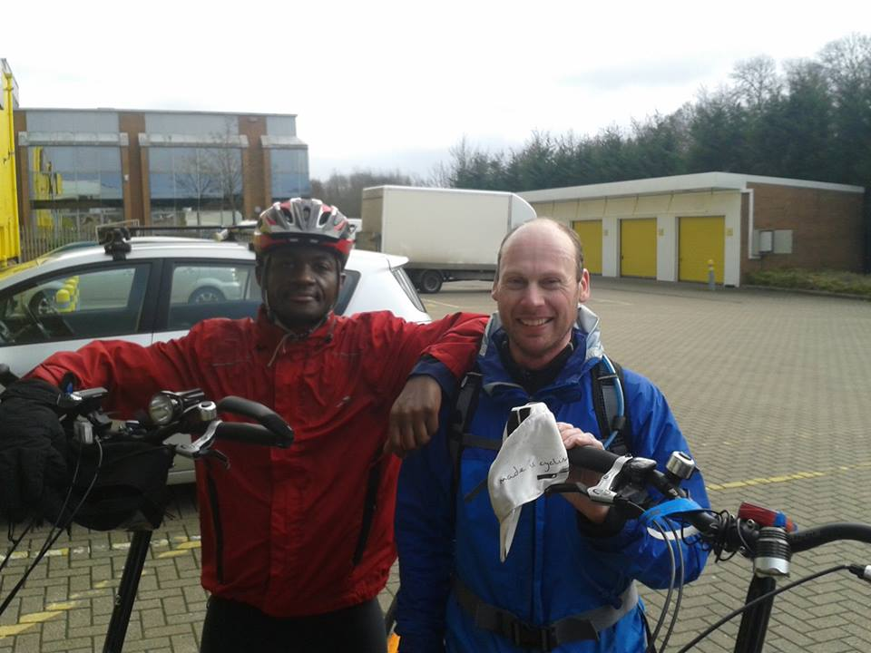 Idai with Ultra-Cyclist Steve Abraham