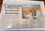 Recurrent Miscarriage - Herts Ad Newspaper