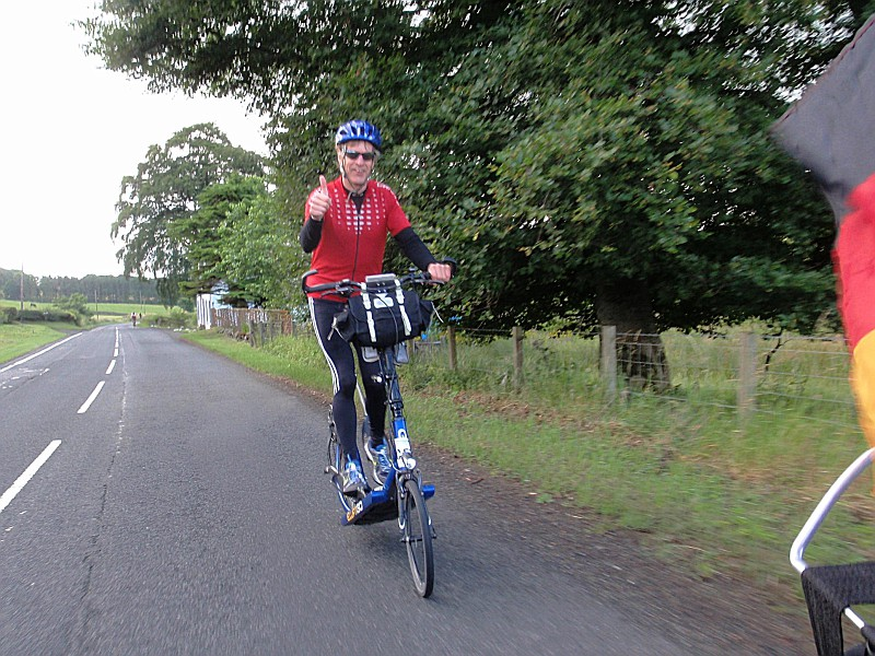 Alan McDonogh, near Edinburgh, during LEL 2013 - 1418 km (887-miles) in under 5 days.