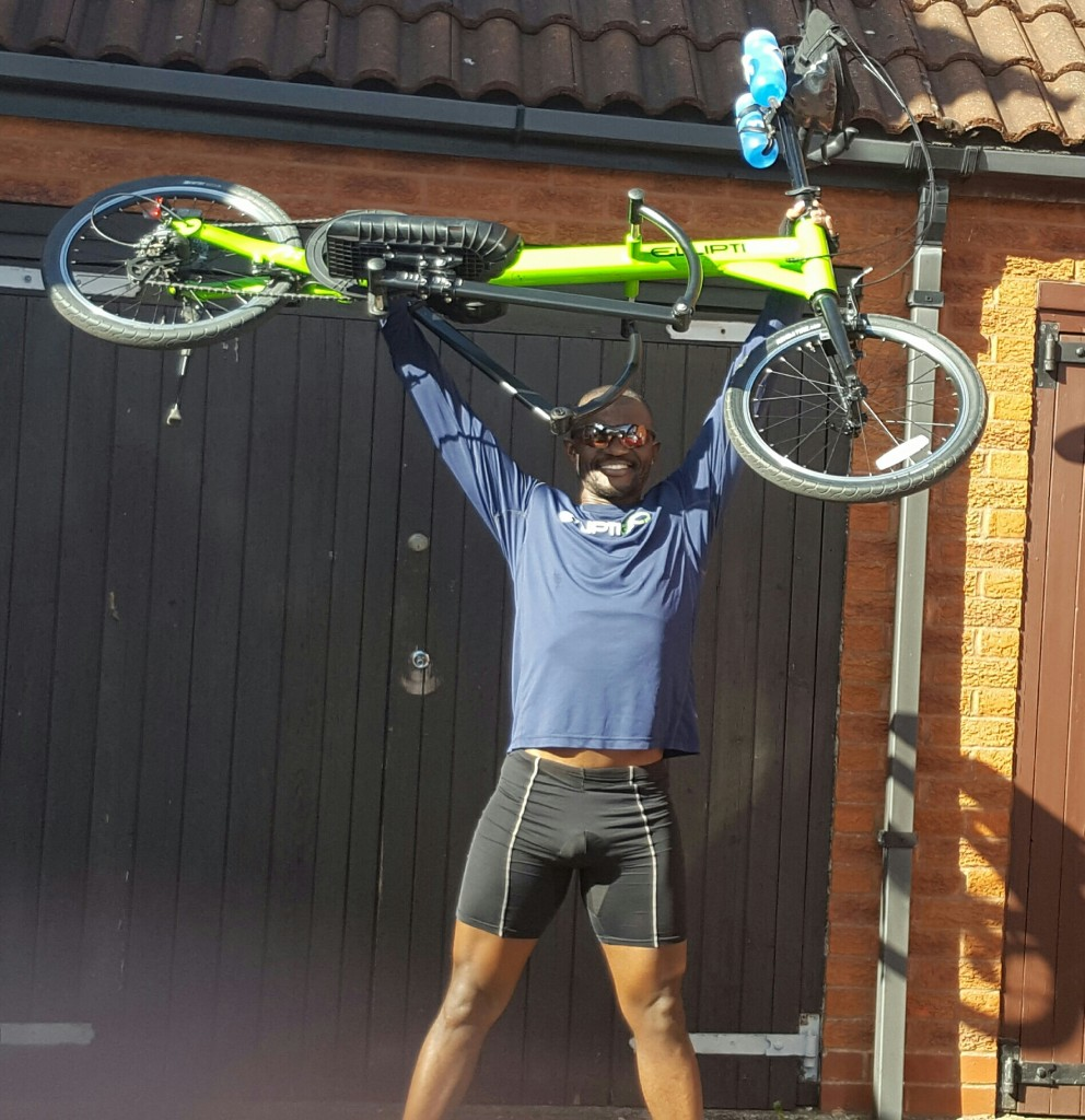 After 26 mile Time Trial on ElliptiGO Arc Bike - April 2016