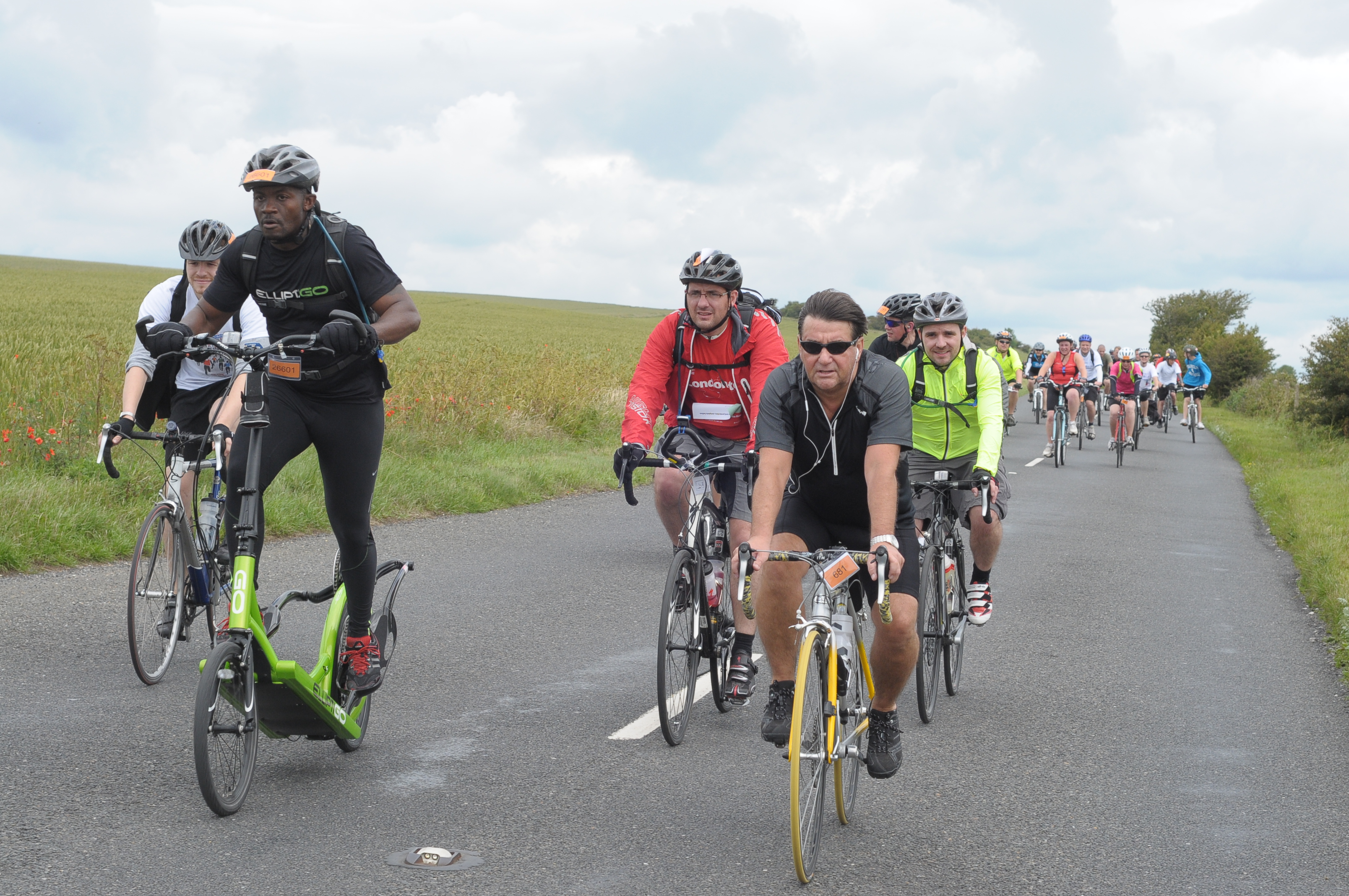Idai Makaya Riding 54-Miles, from London to Brighton, in 2011