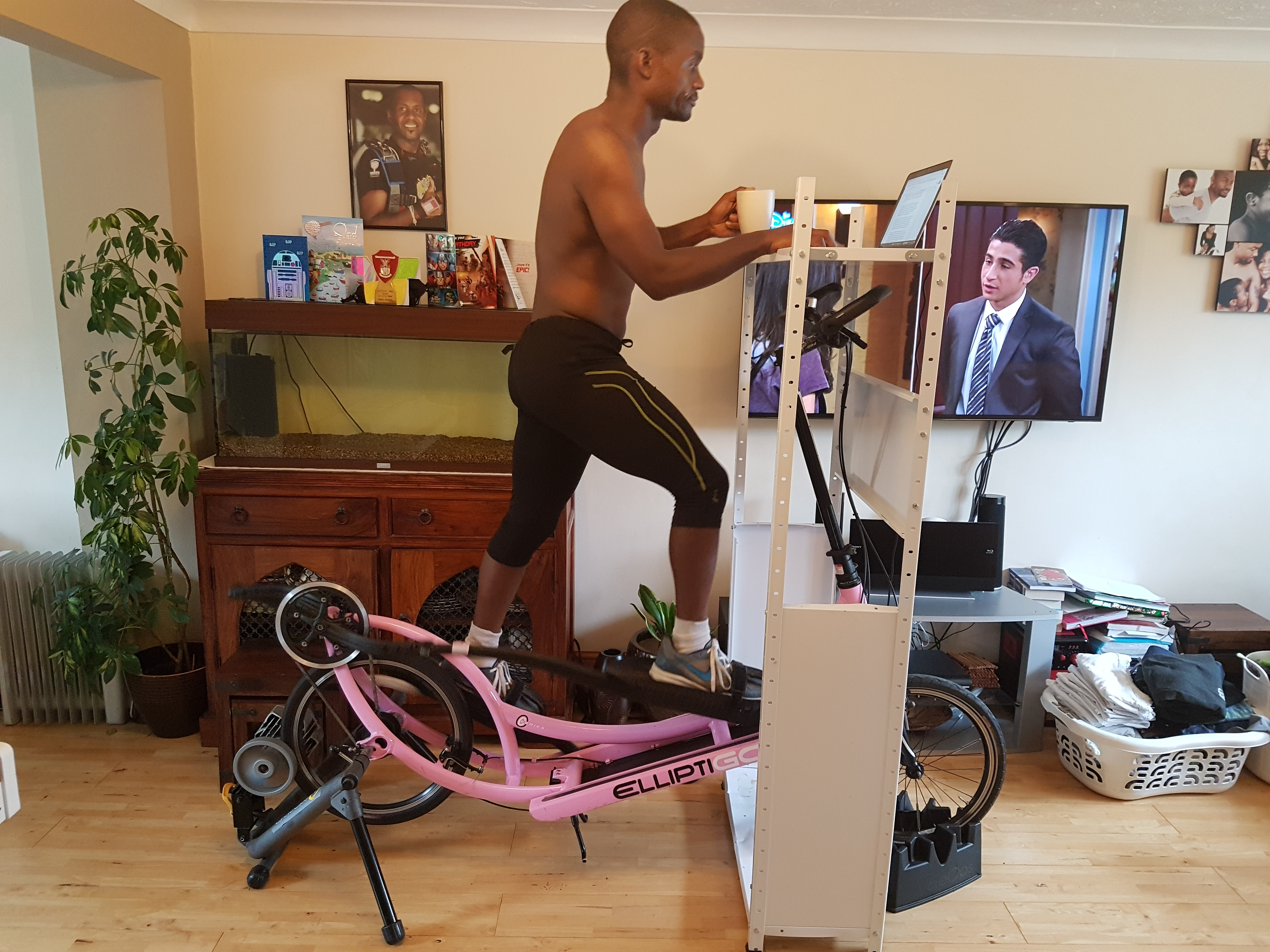 Keeping things interesting on the indoor trainer...