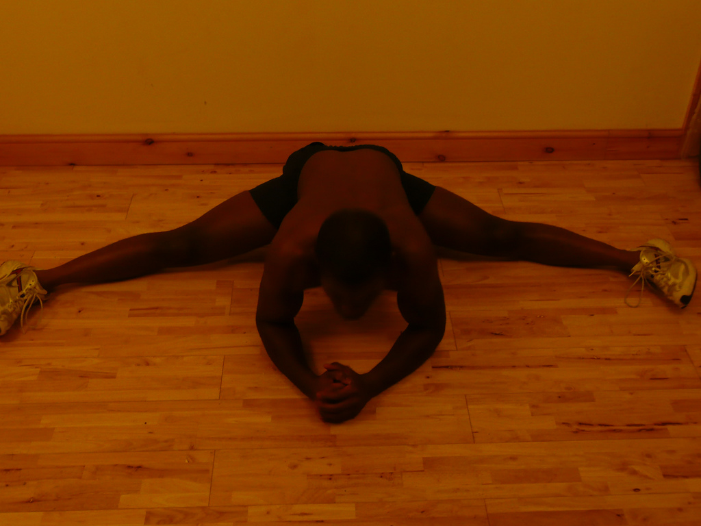 Roadkill Splits - Stretching has played an important role in my routine, to keep my muscles injury-proof and flexible...