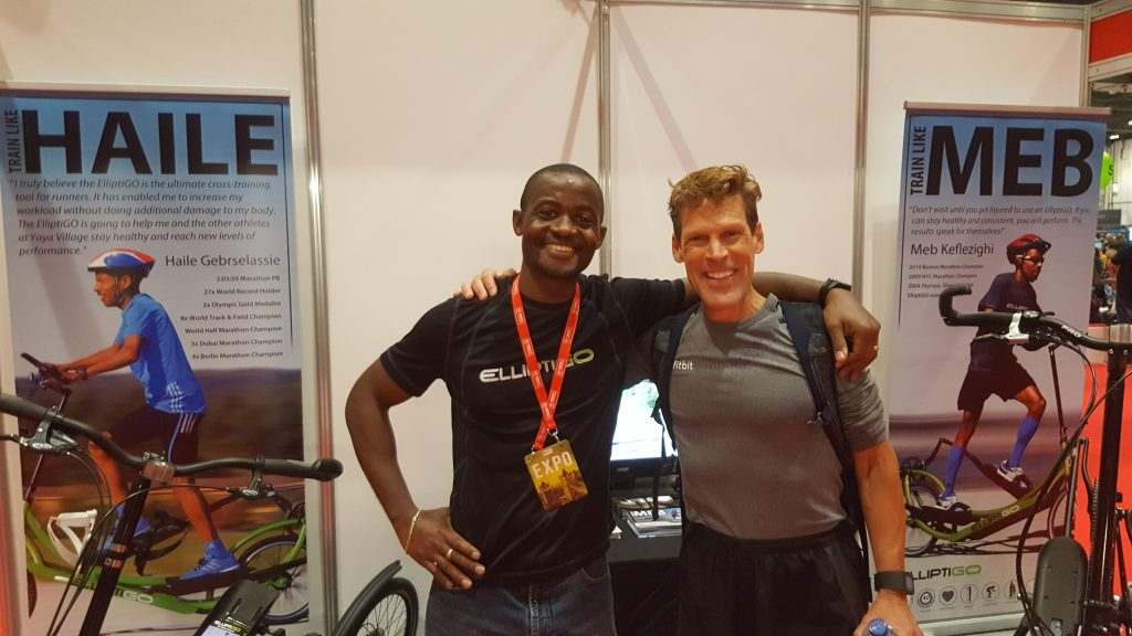 Dean Karnazes and Idai Makaya