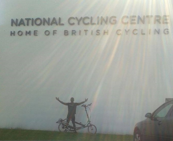At the National Cycling Centre in Manchester