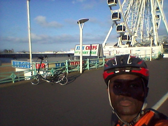 During a 240-mile Training ride to Brighton.