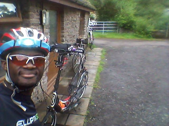 Control Checkpoint 2 at Llanthony. 115 km covered.