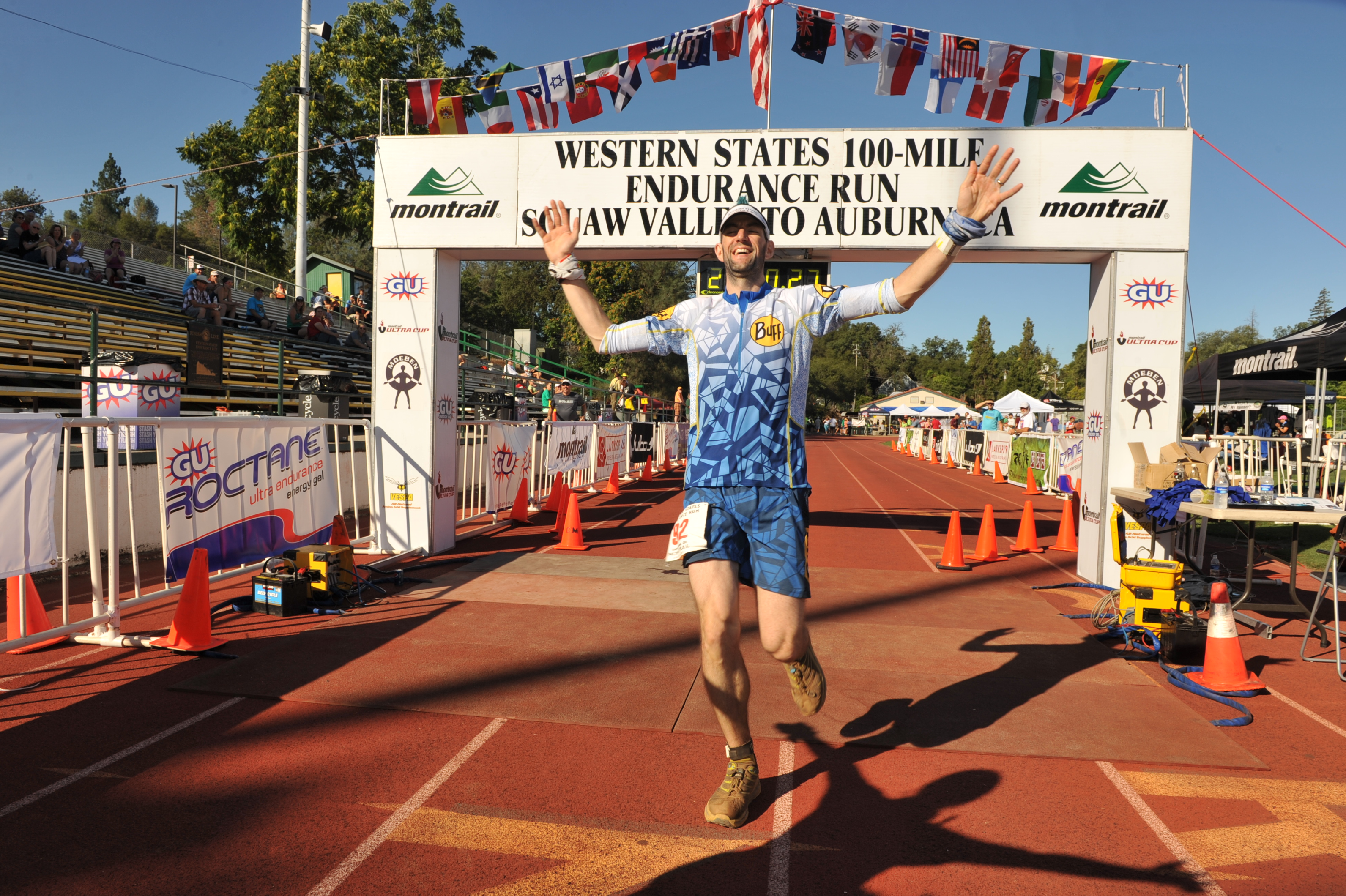 Stu at Western States 100 Miler in 2013