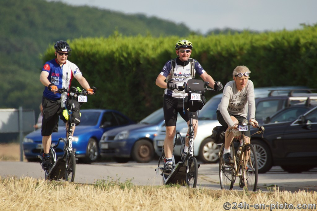 (L-R) Bill, Andy and Audax veteran cyclist Drew Buck during PBP 2015...