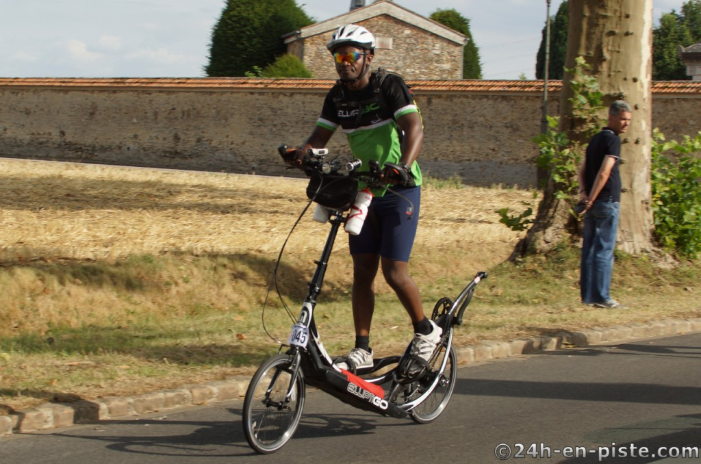 Idai - riding comfortablly during the early part of Paris Brest Paris 2015...