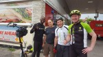 With Shane, Chris and Andy during my LEJOG ElliptiGO Record Ride.