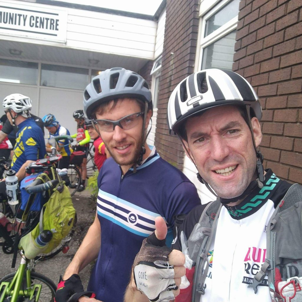 Tim & Stu as they took to the road on 7 July 2017 for the Mille Pennines 1,000km Audax...